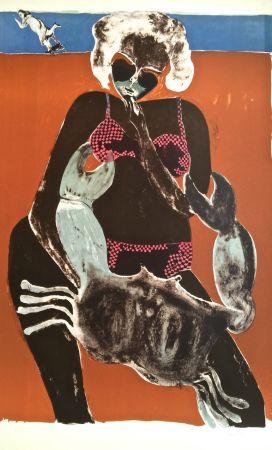 Lithograph Toledo - Femme au crabe