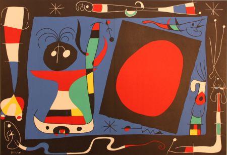 Lithograph Miró - Femme Au Miroir