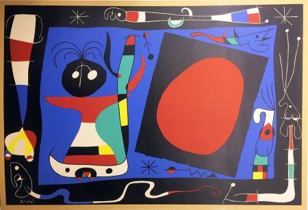Lithograph Miró - FEMME AU MIROIR (1956)