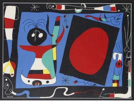 Lithograph Miró - Femme au miroir / Woman Before a Mirror