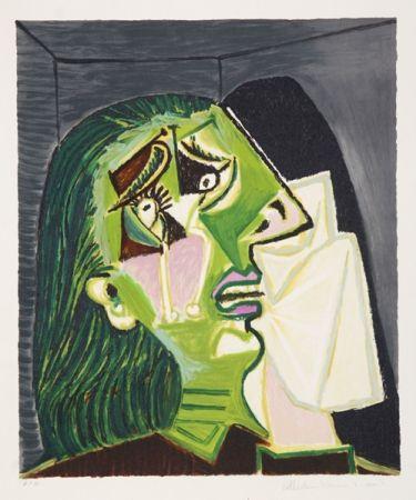 Lithograph Picasso - Femme au Mouchoir
