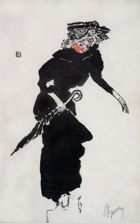 Lithograph Bonnard - Femme au Parapluie