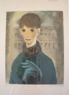 Etching Lydis - Femme aux gants