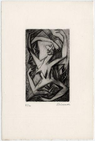 Engraving Prinner - Femme, bras et mains (La Femme tondue, 1946)