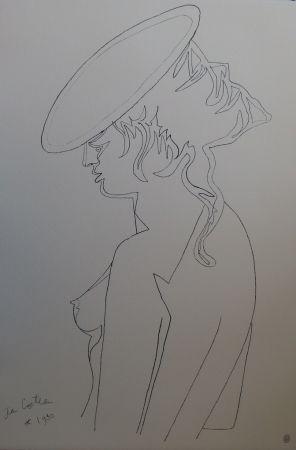 Lithograph Cocteau - Femme de profil
