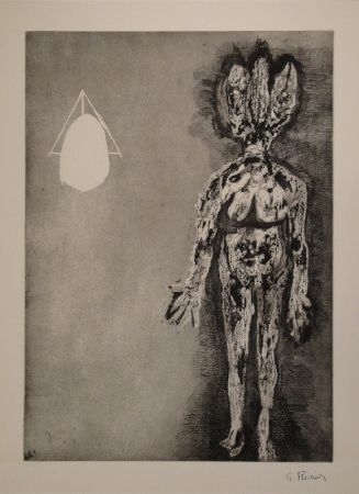 Etching And Aquatint Richier - Femme debout / L'Hydre