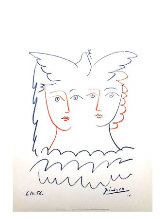 Lithograph Picasso (After) - Femme et Colombe