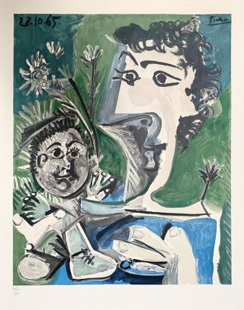 Lithograph Picasso - Femme et Enfant