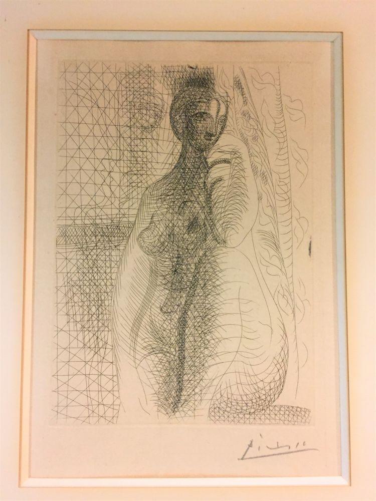 Engraving Picasso - Femme nue a la jambe plièe