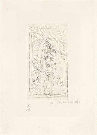 Etching Giacometti - Femme nue de face à mi-corps