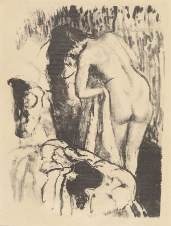 Lithograph Degas - Femme nue debout à sa toilette / Standing Nude Woman, Drying Herself