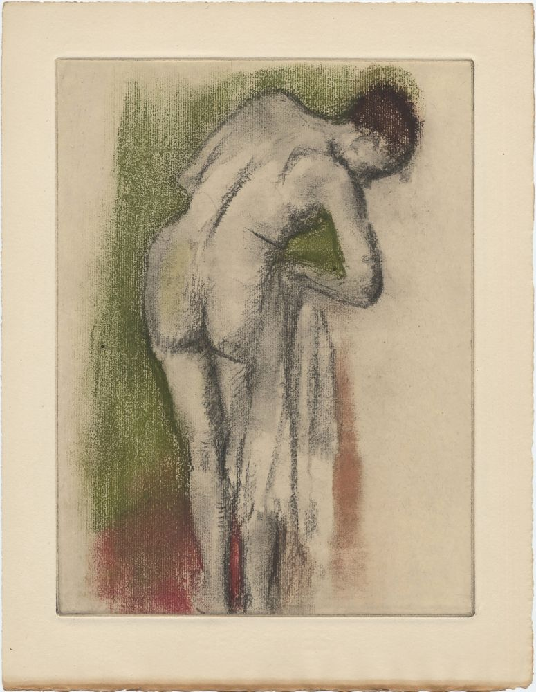 Etching And Aquatint Degas - Femme nue debout à sa toilette (vers 1880-1890)