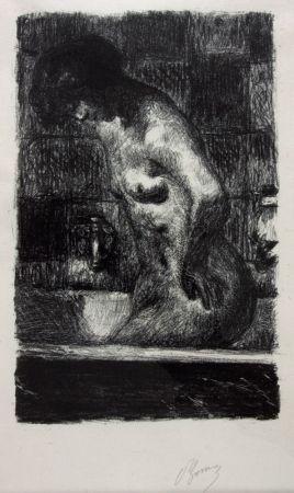 Lithograph Bonnard - Femme Nue Debout dans sa Baignoire