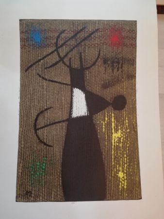 Lithograph Miró - Femme Oiseau X/X