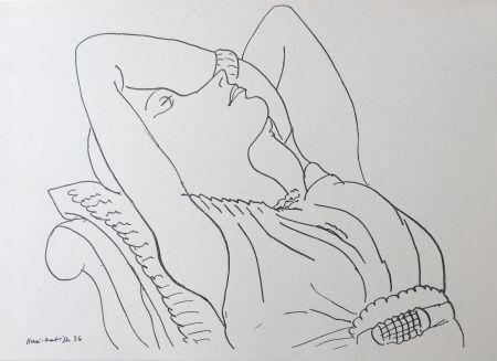 Lithograph Matisse - Femme sur canapé