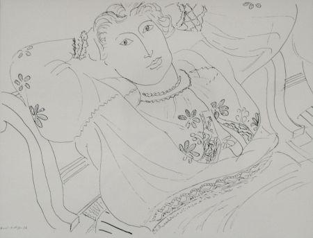 Lithograph Matisse - Femme sur chaise longue