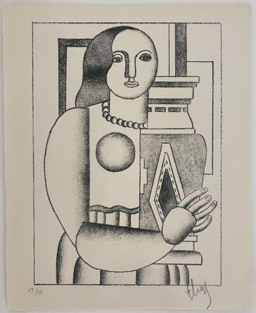 Lithograph Leger - Femme tenant un Vase