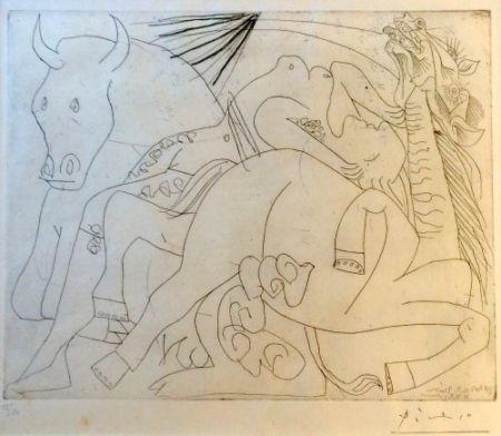 Etching Picasso - Femme Torero