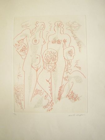 Etching Masson - Femmes aux masques