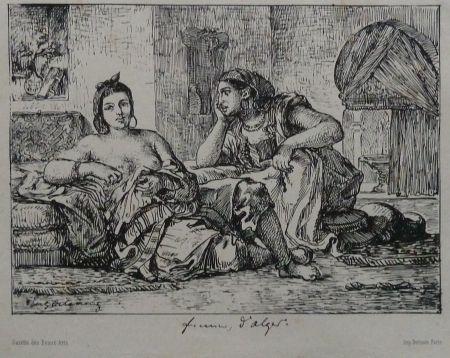 Lithograph Delacroix - Femmes d`Algers