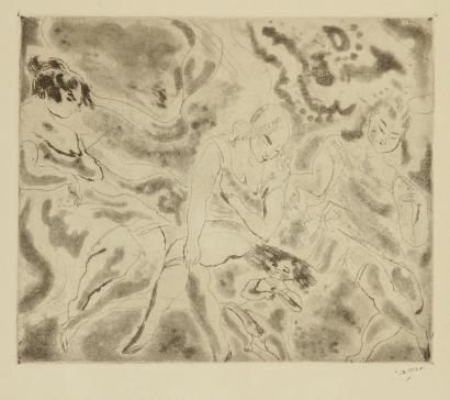 Etching And Aquatint Pascin - Femmes et enfant