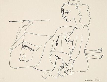 Lithograph Picasso - Femmes Sur La Plage