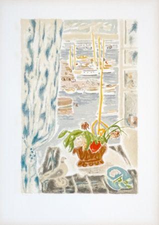 Lithograph Cavailles - Fenêtre grise