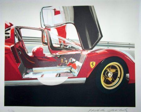 Lithograph Yoshida - Ferrari