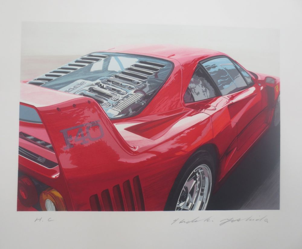 Lithograph Yoshida - Ferrari 250 GT0 64