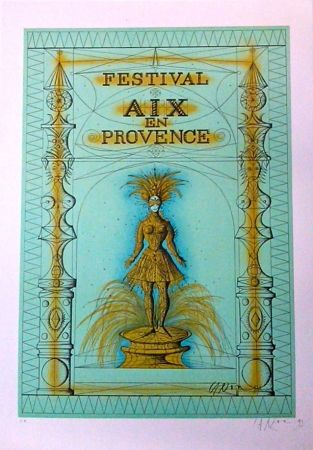Lithograph Carzou - Festival Aix en Provence