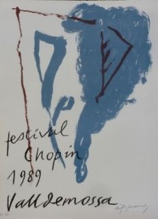 Lithograph Ràfols Casamada - FESTIVAL CHOPIN
