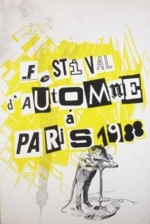 Screenprint Polke - Festival d'automne à Paris 1988