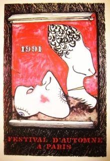 Lithograph Johns - Festival d'automne à Paris 1991
