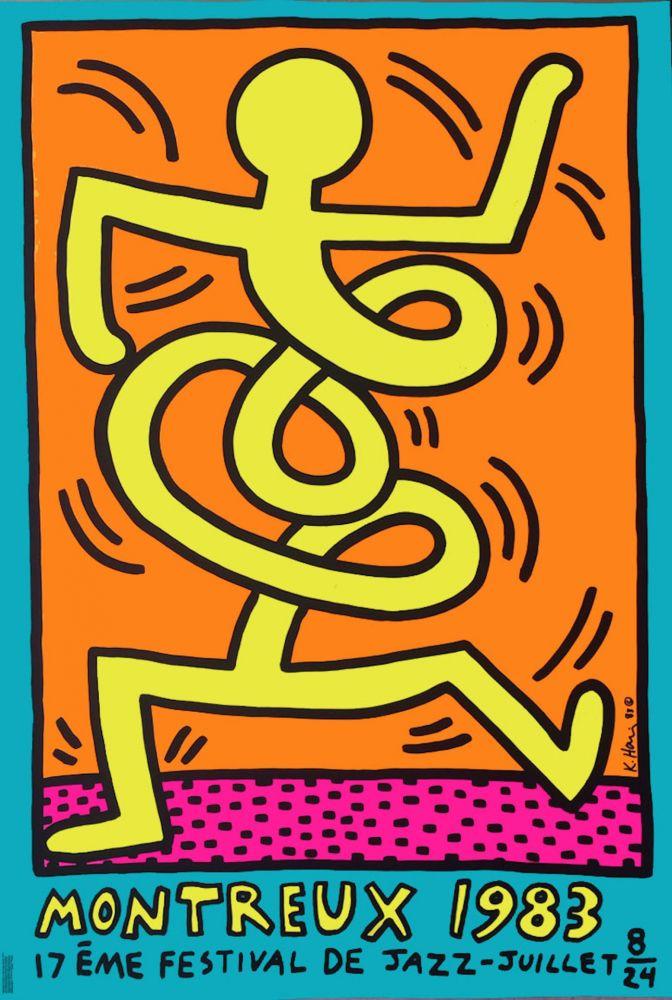 Poster Haring - Festival de Jazz – Juillet