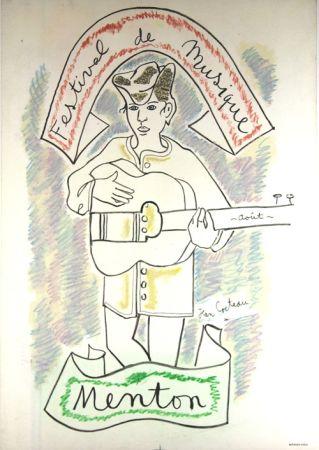 Lithograph Cocteau - Festival de Musique de Menton