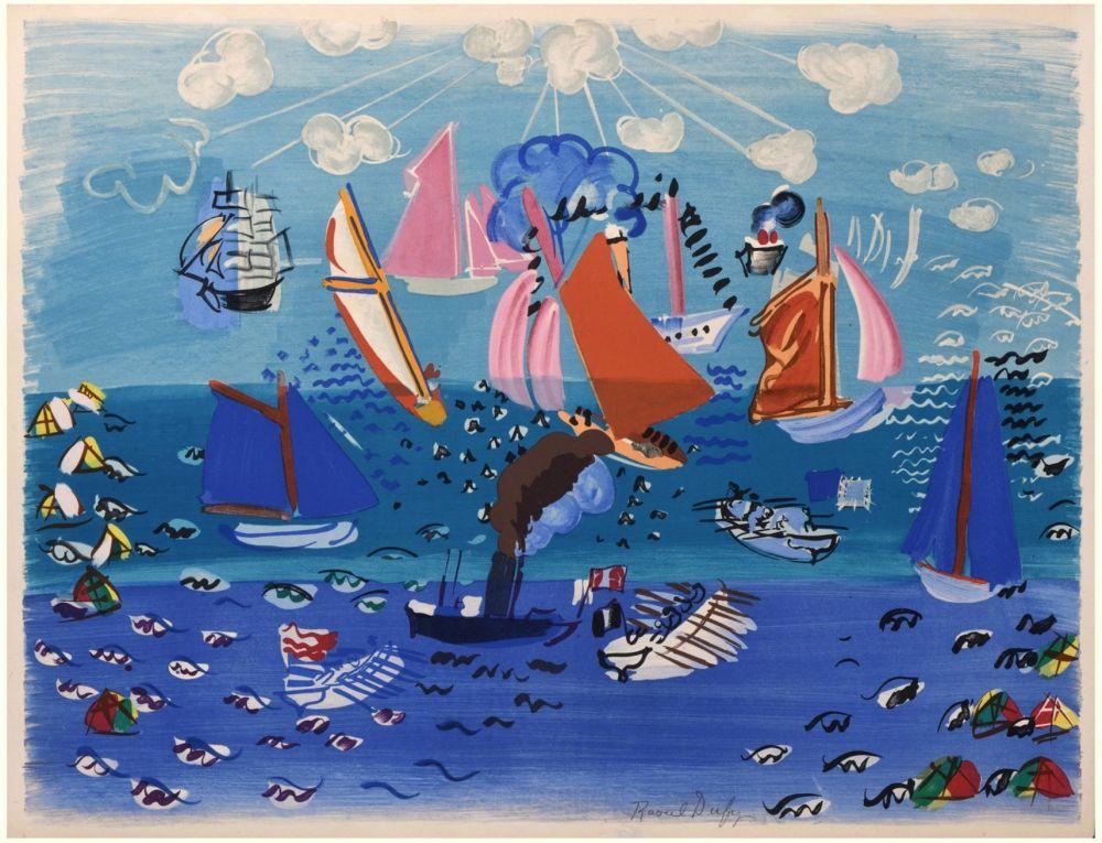 Lithograph Dufy - FESTIVAL, MARINE