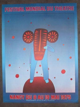 Poster Folon - Festival mondial du théatre
