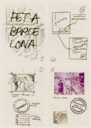 Lithograph Muntadas - Fet a Barcelona