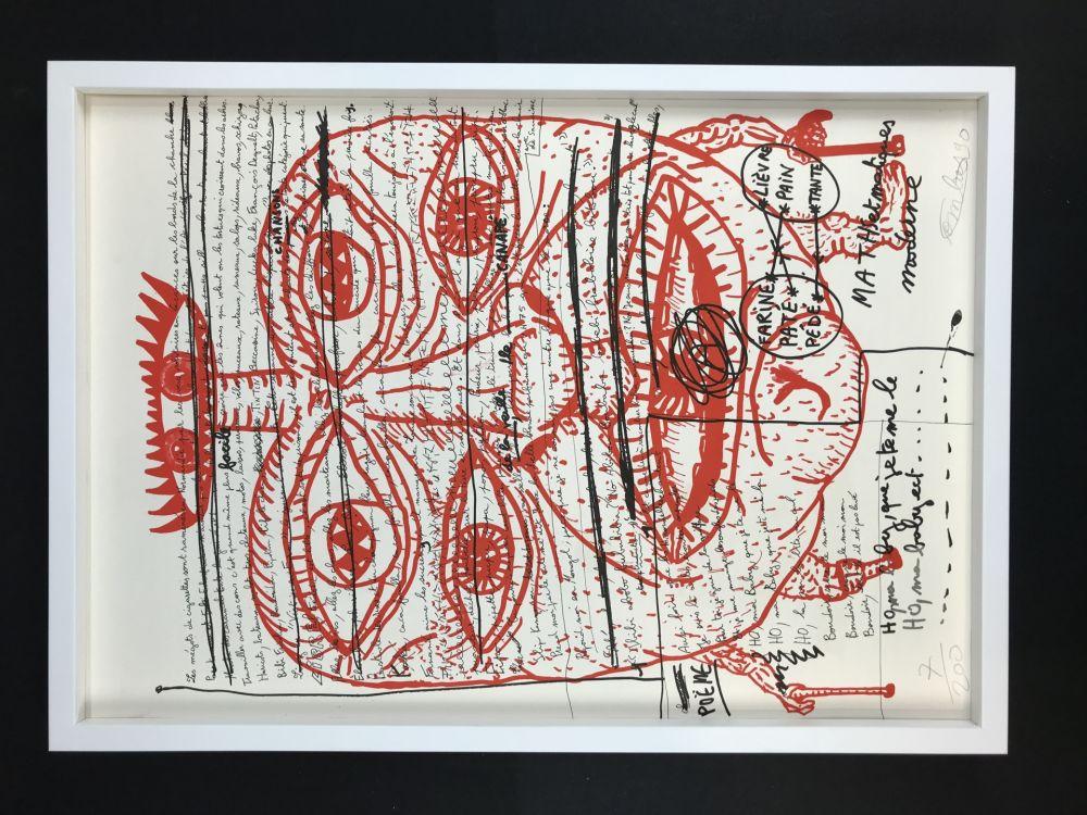 Lithograph Combas - Feu №2