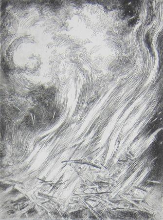 Engraving Leclercq-K. - Feu préfectoral