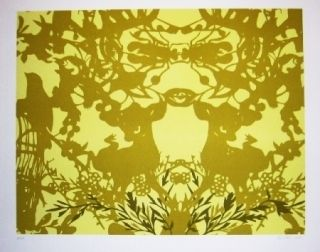 Lithograph Baker - Feuillages 2