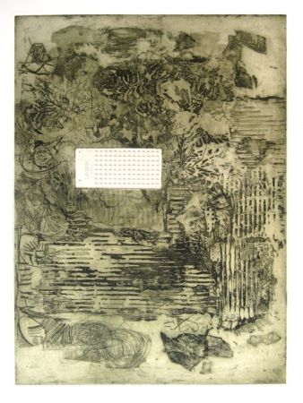 Etching And Aquatint Clavé - Feuilles