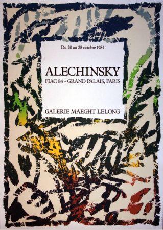 Lithograph Alechinsky - '' FIAC 84 ''