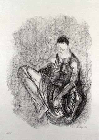 Lithograph Belling - Figur
