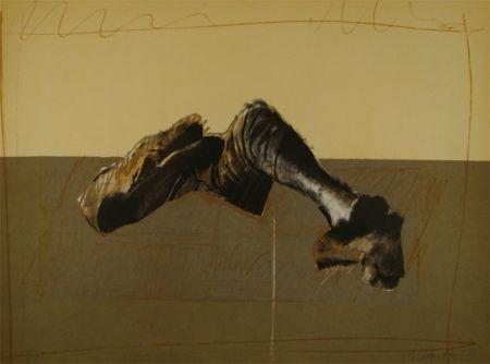 Lithograph Canogar - Figura en paisaje