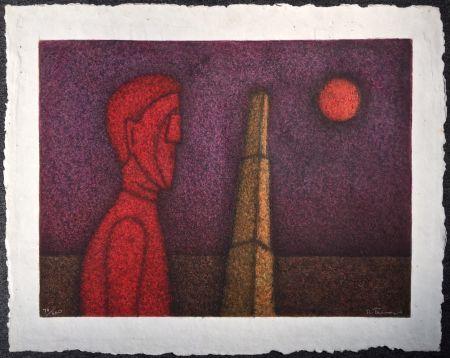 Multiple Tamayo - Figura en rojo