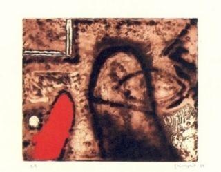 Etching Guinovart - Figura i vermell