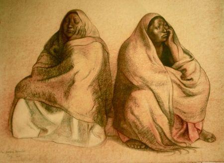 Lithograph Zuniga - Figuras sentadas