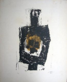 Lithograph Ubac - Figure
