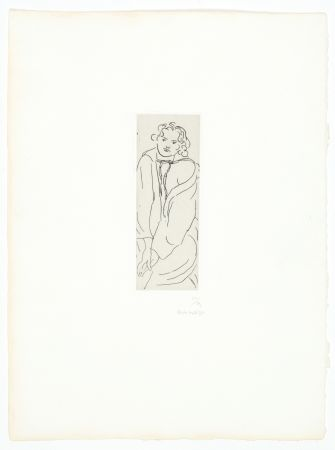 Etching Matisse - Figure au peignoir